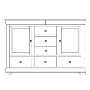 Wayside Custom Furniture Chateau Door Mule Dresser