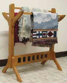 Wayside Custom Furniture Amish Accents Mission Quilt Rack