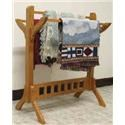 Wayside Custom Furniture Amish Accents Mission Quilt Rack - Item Number: CWO4003