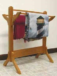 Wayside Custom Furniture Amish Accents Shaker Quilt Rack
