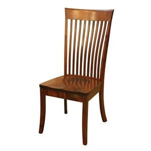 Wayside Custom Furniture Amish Dining Chairs Bent Shaker Dining Chair