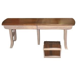 Wayside Custom Furniture Casual Dining Galveston Extend-A-Bench