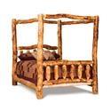 Wayside Custom Furniture Fireside Log-Bedroom Queen Canopy Bed - Item Number: B115-A