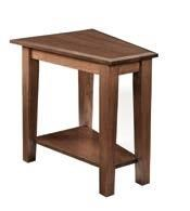 Wayside Custom Furniture Deluxe Shaker Wedge End Table