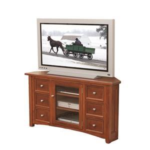 "Wayside Custom Furniture Garnet Hill 56"" Corner TV Console"