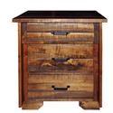Wayside Custom Furniture Bear Creek 3 Drawer Night Stand - Item Number: WAY1970
