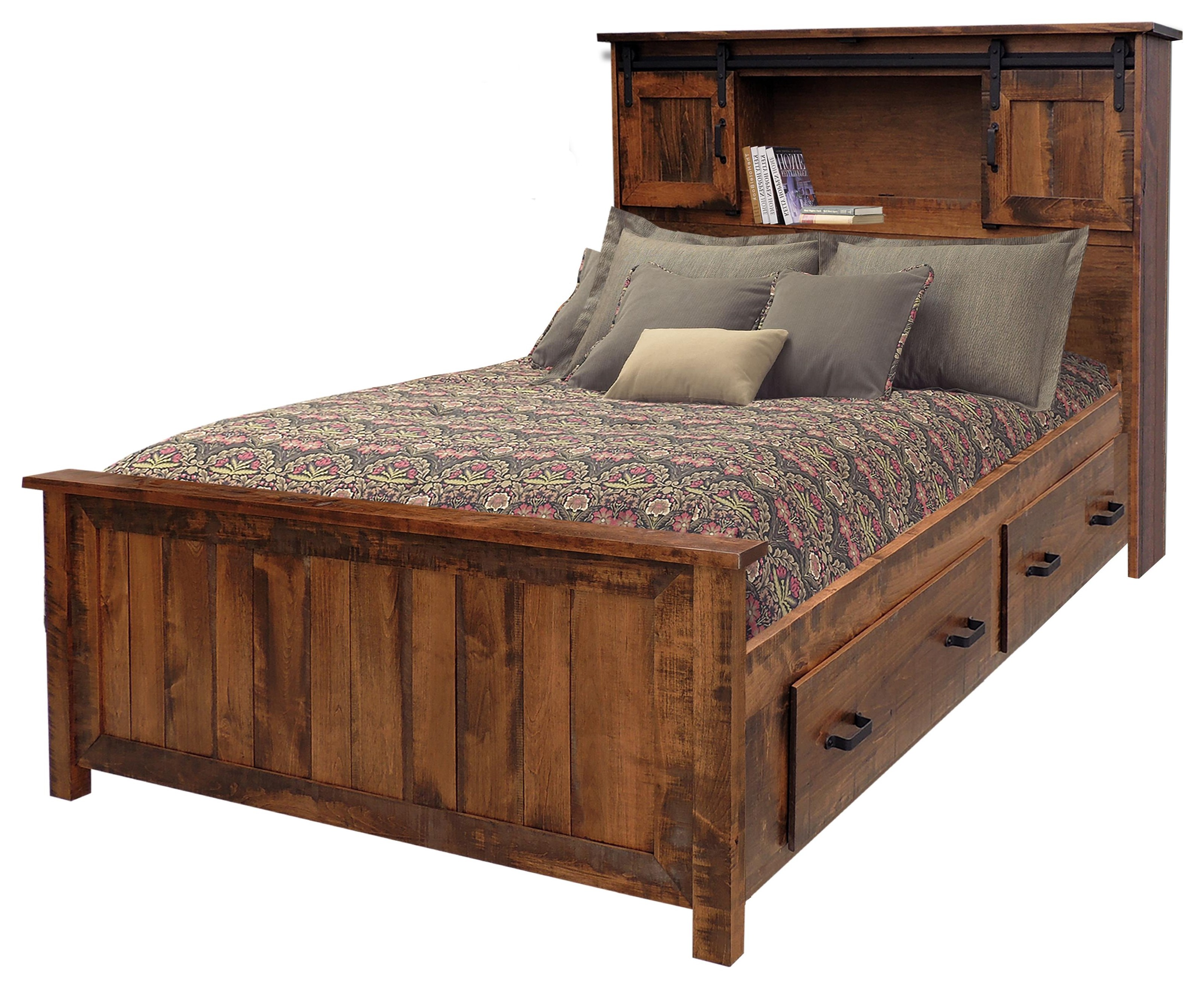 Picture of: Wayside Custom Furniture Bear Creek Queen Bookcase Storage Bed Wayside Furniture Bookcase Beds