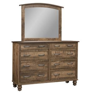 8 Drawer Mule Dresser & Mirror