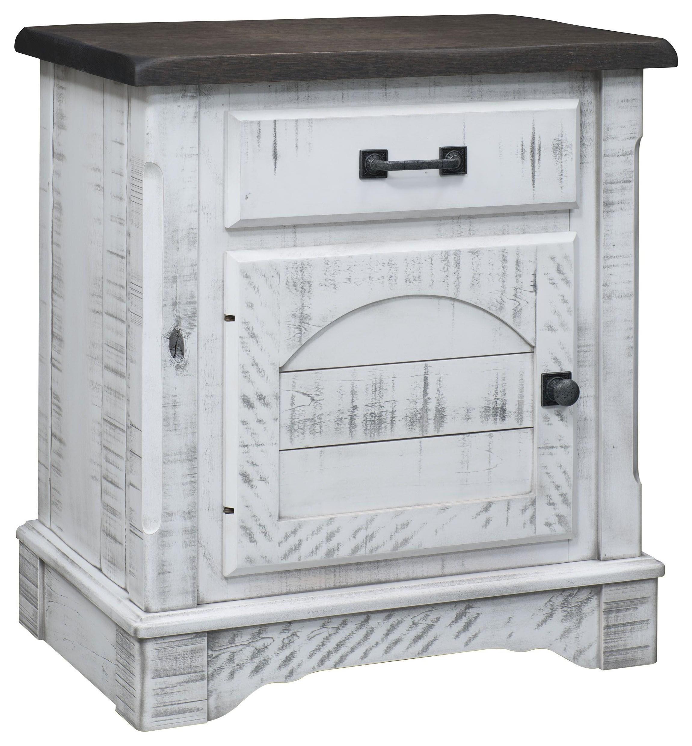 1 Drawer, 1 Door Nightstand