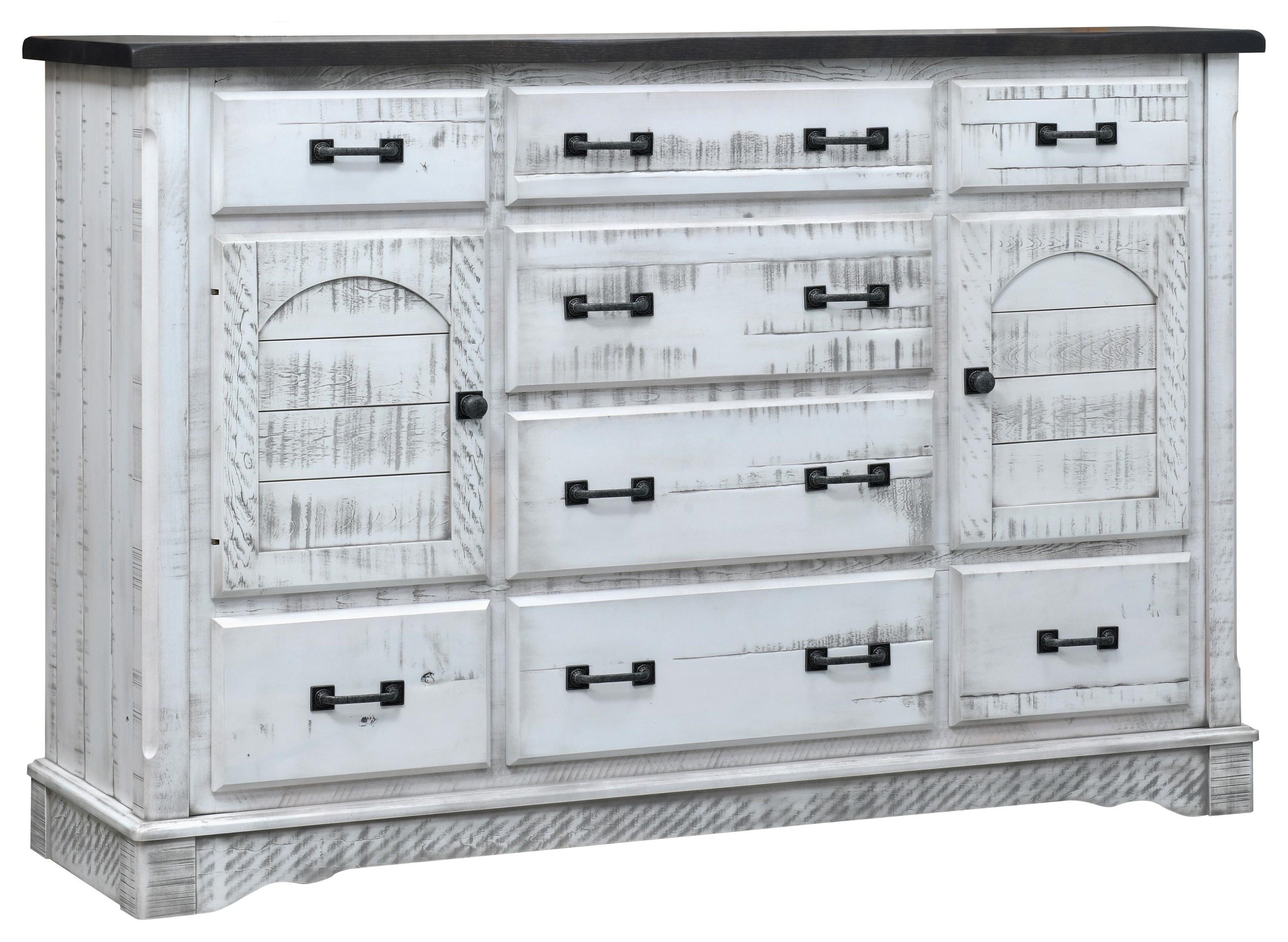 8 Drawer, 2 Door Mule Dresser