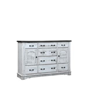 8 Drawer, 2 Door Mule Dresser