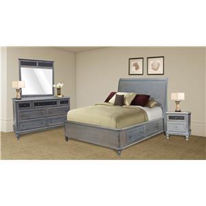 Wayside Custom Furniture Tribecca 4pc Queen Bedroom Group 1