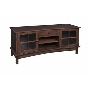 "Wayside Custom Furniture Solid Wood TV Stands 60"" Concave TV Stand"