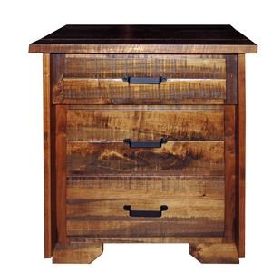 Wayside Custom Furniture Bear Creek 3 Drawer Night Stand