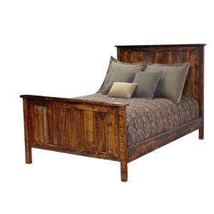 Wayside Custom Furniture Bear Creek Queen Panel Bed