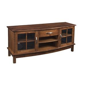 "Wayside Custom Furniture Solid Wood TV Stands 60"" Arched Bow TV Stand"