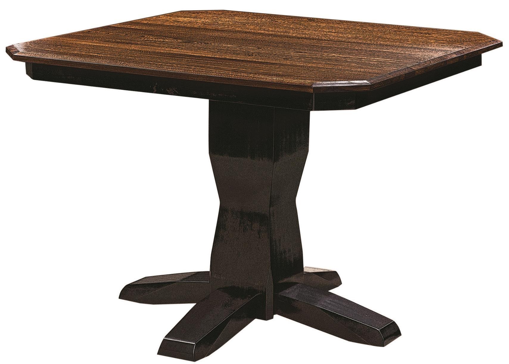 Bevel Shaker Single Pedestal Table