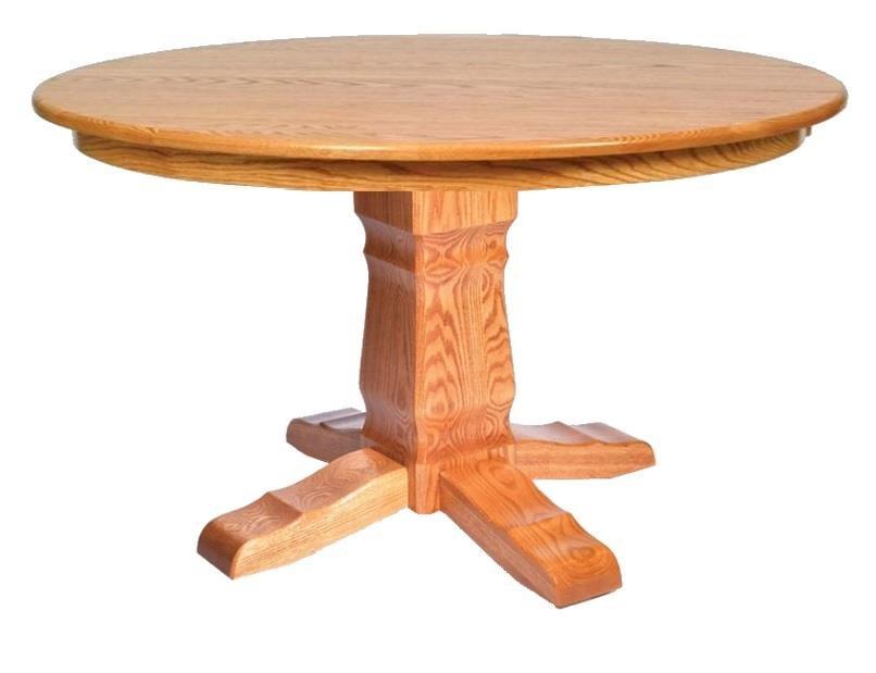 Post Mission Single Pedestal Table