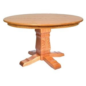 Post Mission Single Pedestal Table