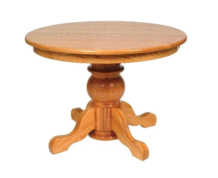 Pot Belly Single Pedestal Table