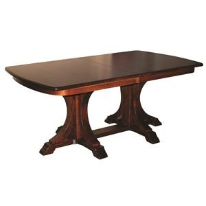 Buckeye Double Pedestal Table