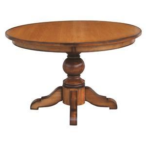 Wayside Custom Furniture Kountry Knob Kowan Single Pedestal Table