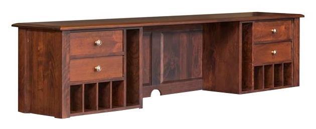 """76"""" L Desk Hutch"""