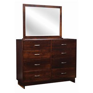 8 Drawer Mule Dresser & Mirror