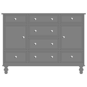 Wayside Custom Furniture Newport Door Mule Dresser