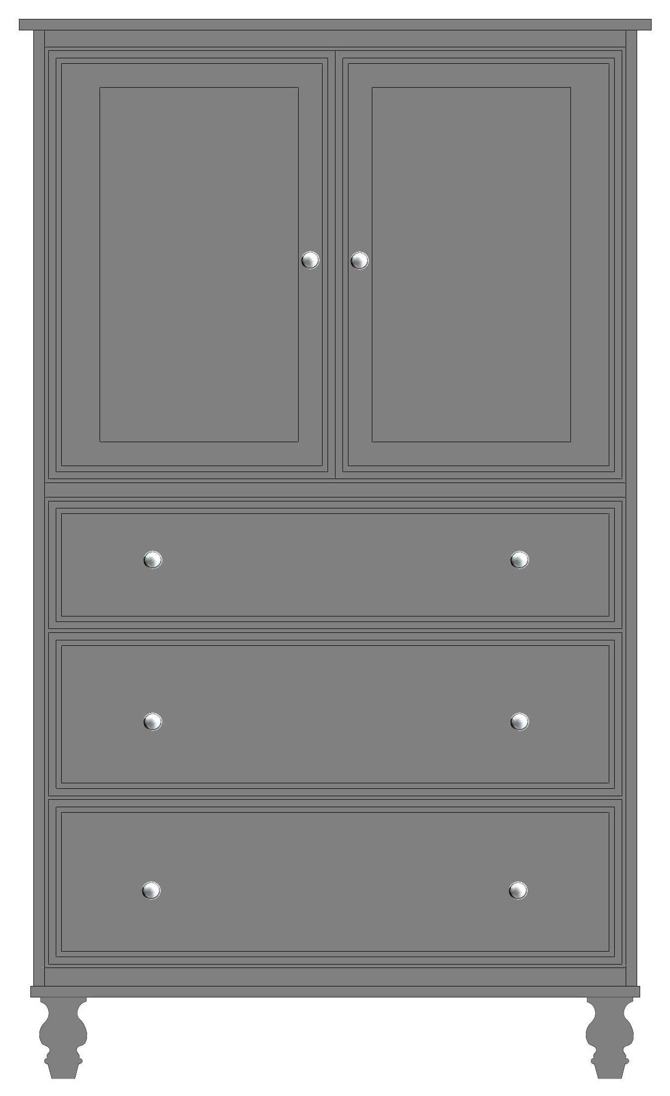 2 Door, 3 Drawer Armoire