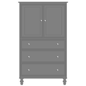 2 Door, 3 Drawer Armoire