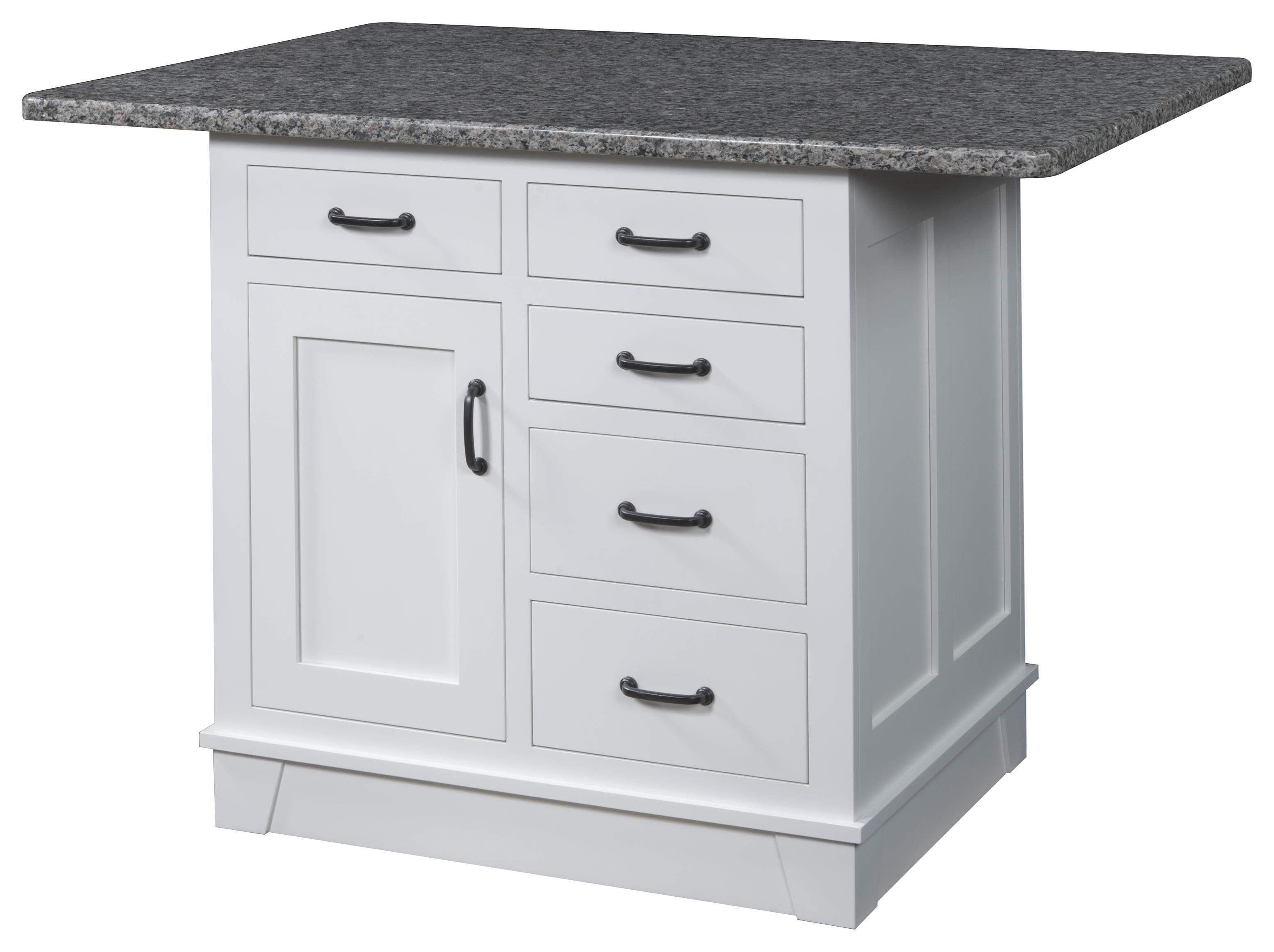 Kitchen Island, 1 Door, 5 Drawer