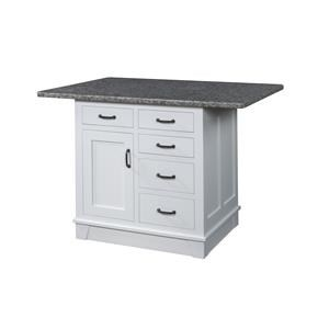 Kitchen Island, 1 Door, 5 Drawer