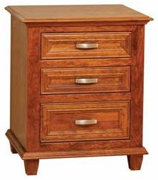 Wayside Custom Furniture Rosedale 3 Drawer Nightstand