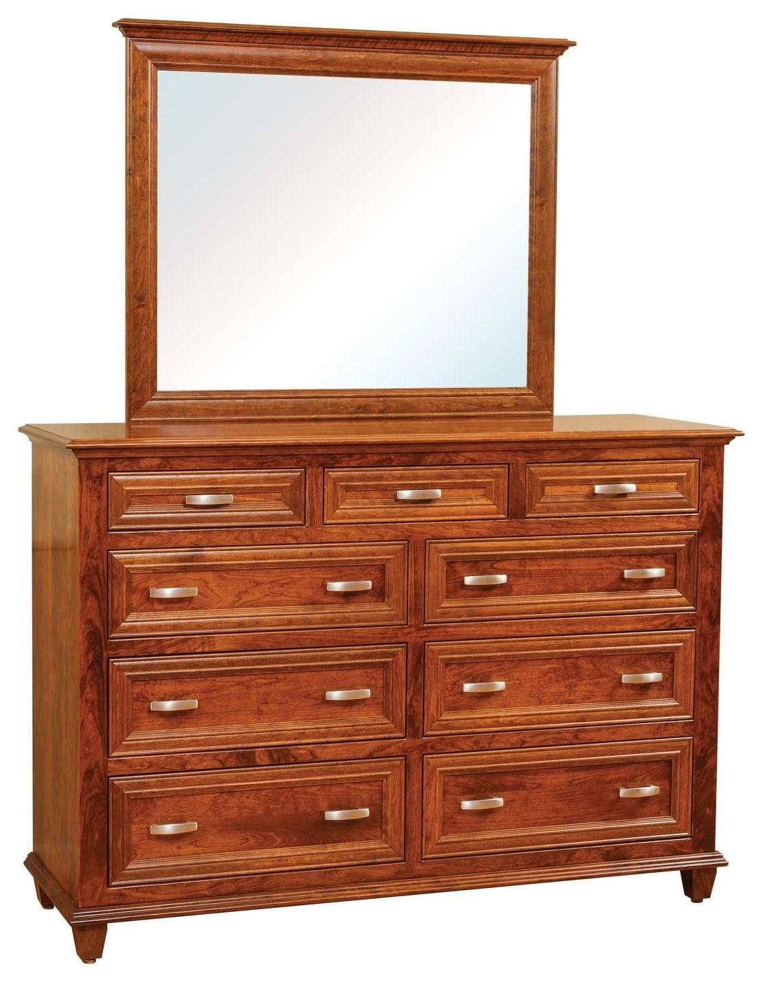 Wayside Custom Furniture Rosedale 9 Drawer Dresser & Mirror - Item Number: 3233-3240