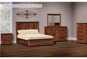 Wayside Custom Furniture Rosedale 4pc Queen Bedroom Group 1