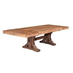 Wayside Custom Furniture RuffSawn Rustic Carlisle Trestle Table