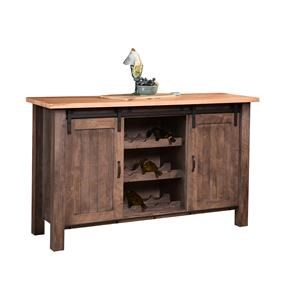 Wayside Custom Furniture RuffSawn Barn Door Buffet