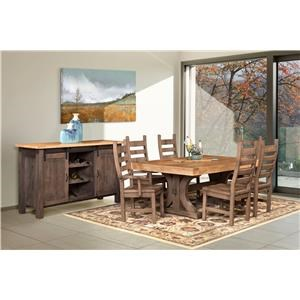 Wayside Custom Furniture RuffSawn Rustic Carlisle Dining Room