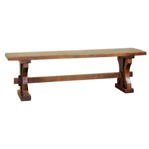 Wayside Custom Furniture RuffSawn Rustic Carlisle Bench