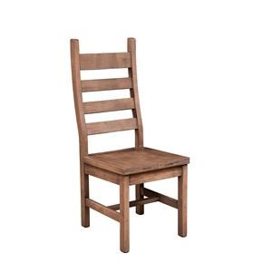 Wayside Custom Furniture RuffSawn Rustic Ladder Back Side Chair