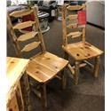 Wayside Custom Furniture Rustic Pine Side Chair - Item Number: wayside.chair