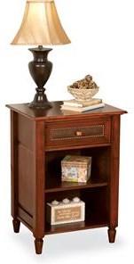 Wayside Custom Furniture Stonebriar 1 Drawer Nightstand