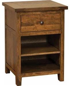 Wayside Custom Furniture Timber Mill 1 Drawer Nightstand