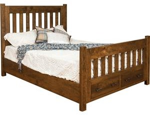 Queen Bed With Footboard Storage