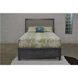 Wayside Custom Furniture Tribecca 411 Upholstered King Sleigh Bed