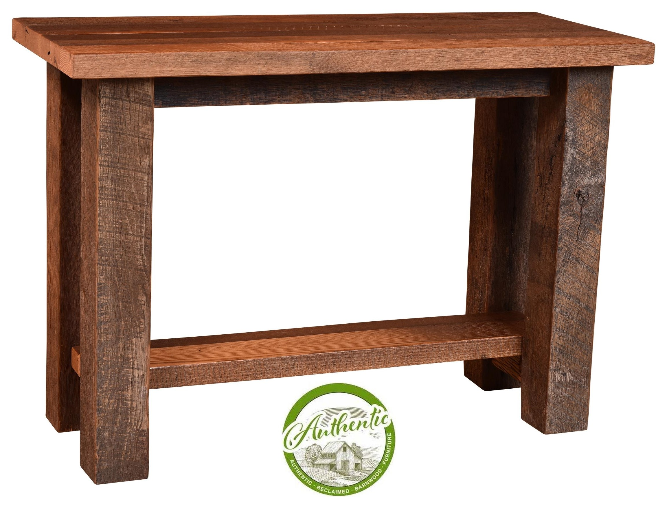 Wayside Custom Furniture Almanzo Reclaimed Barnwood Sofa Table