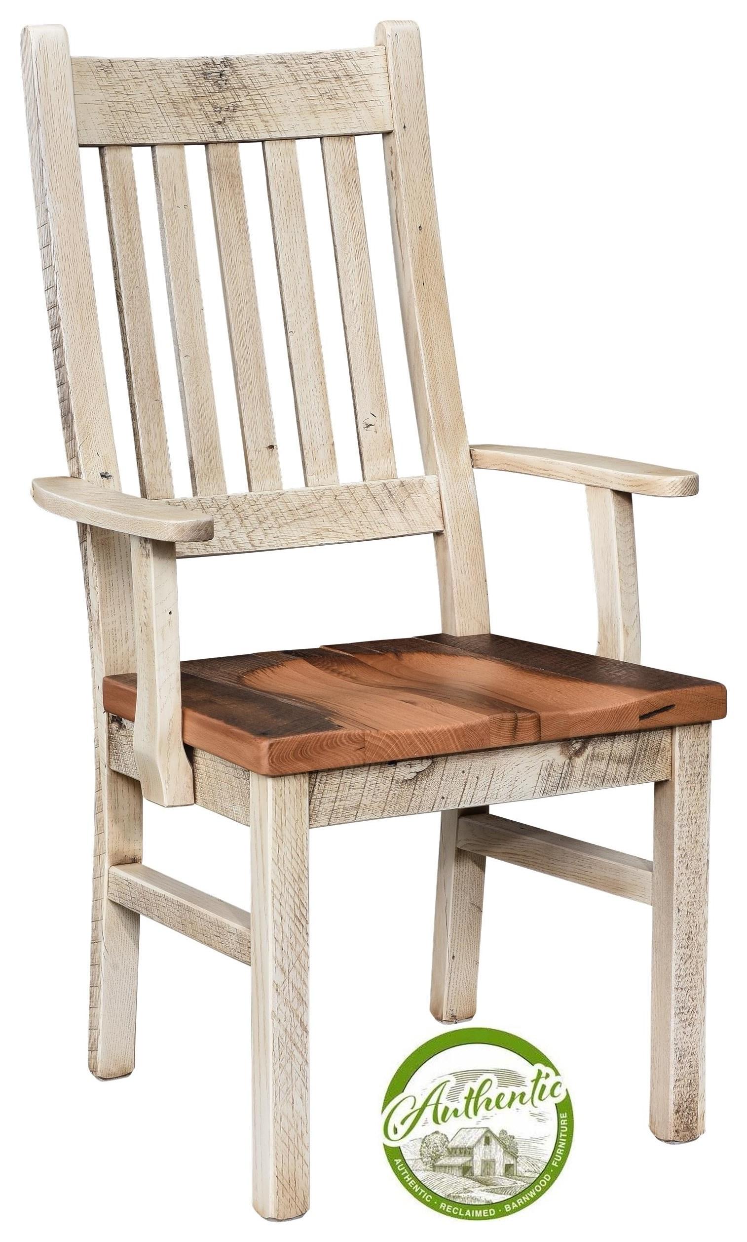 Reclaimed Barnwood Arm Chair