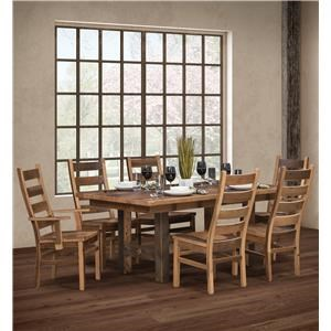 Wayside Custom Furniture Grove 7pc Dining Group