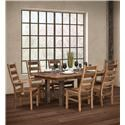 Wayside Custom Furniture Grove 7pc Dining Group - Item Number: Grove 143+235-LSC+LAC